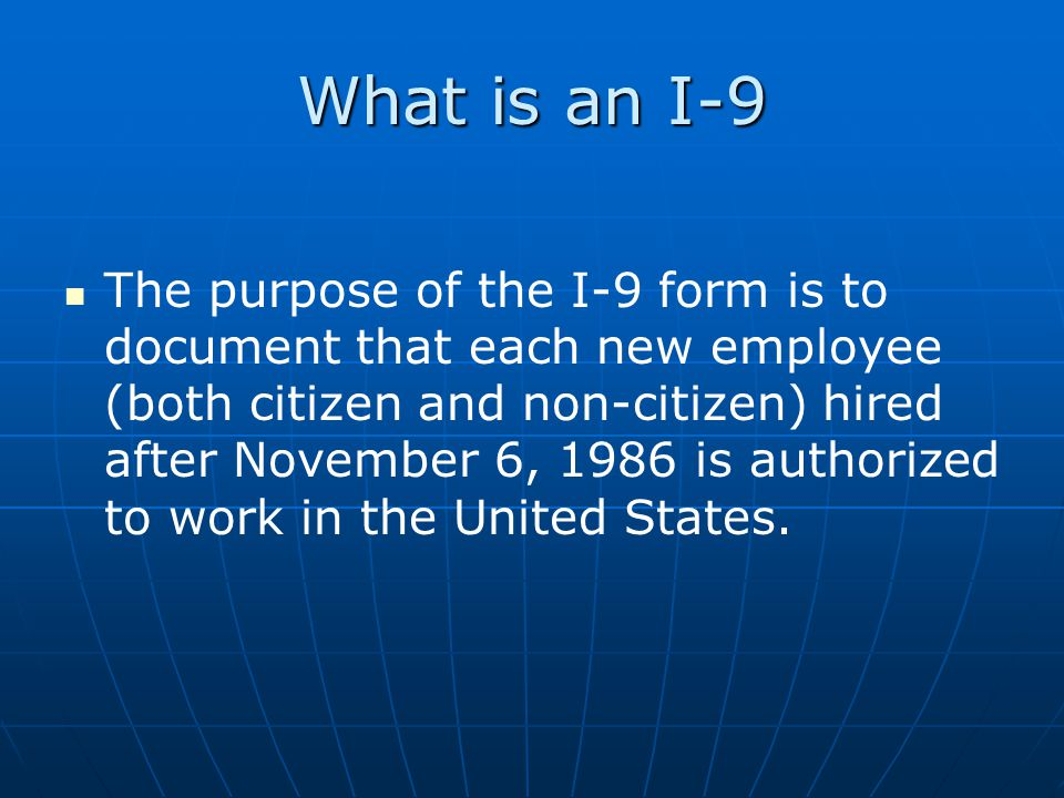 What is an I-9