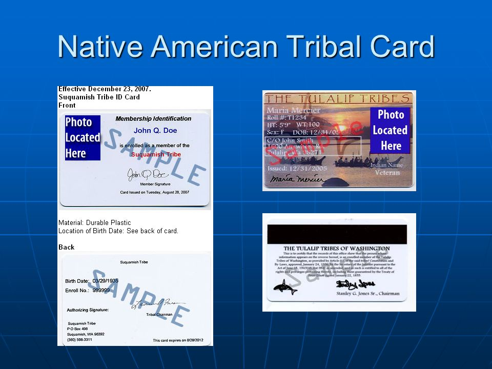 Native American Tribal Card