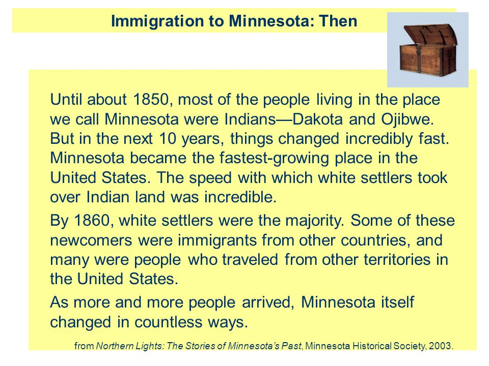 Immigration to Minnesota: Then