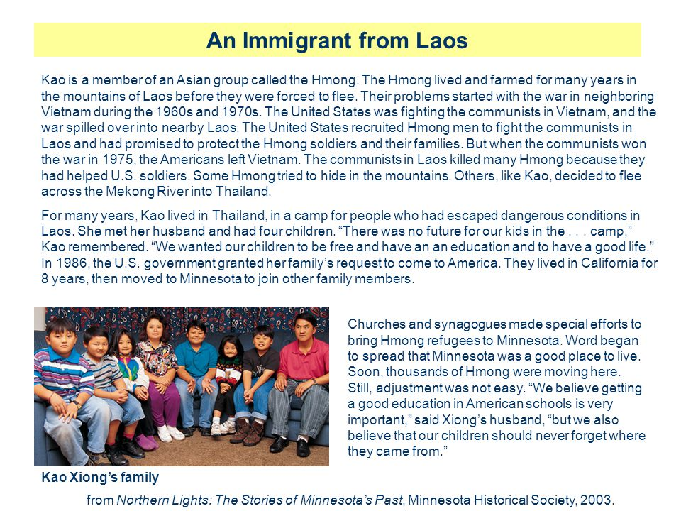 An Immigrant from Laos