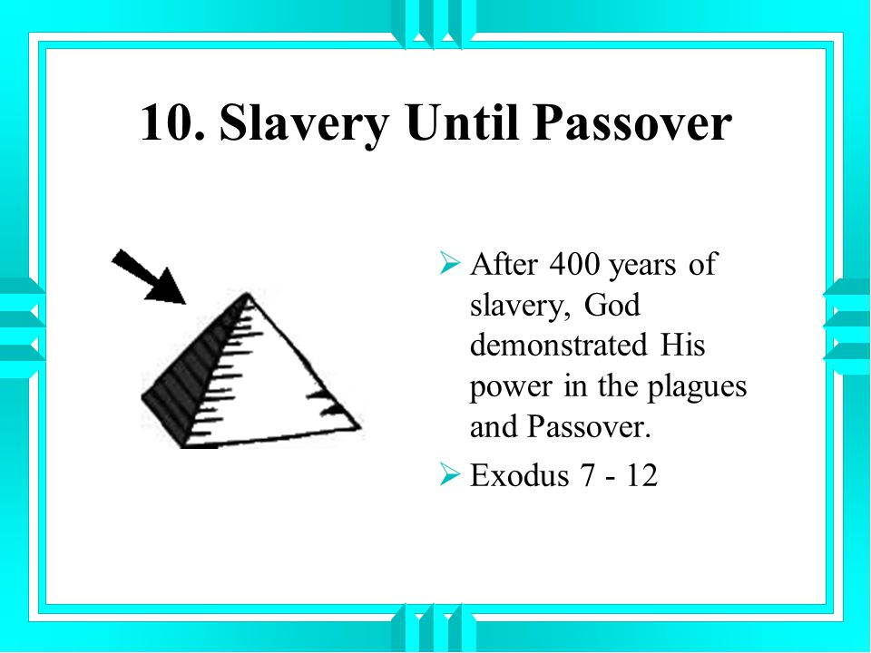 10. Slavery Until Passover