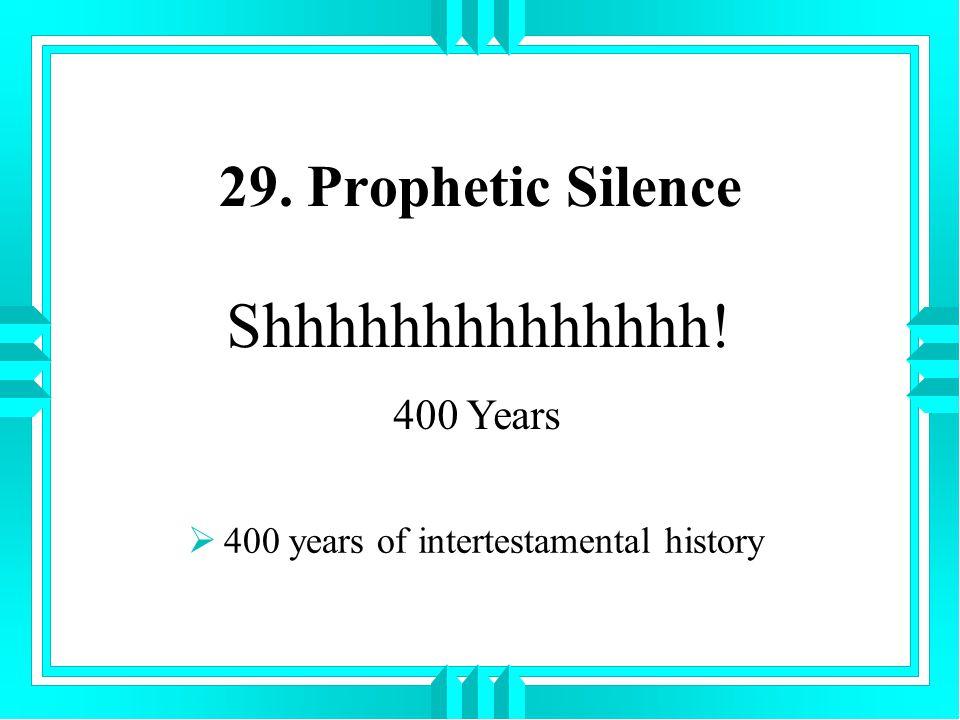 400 years of intertestamental history