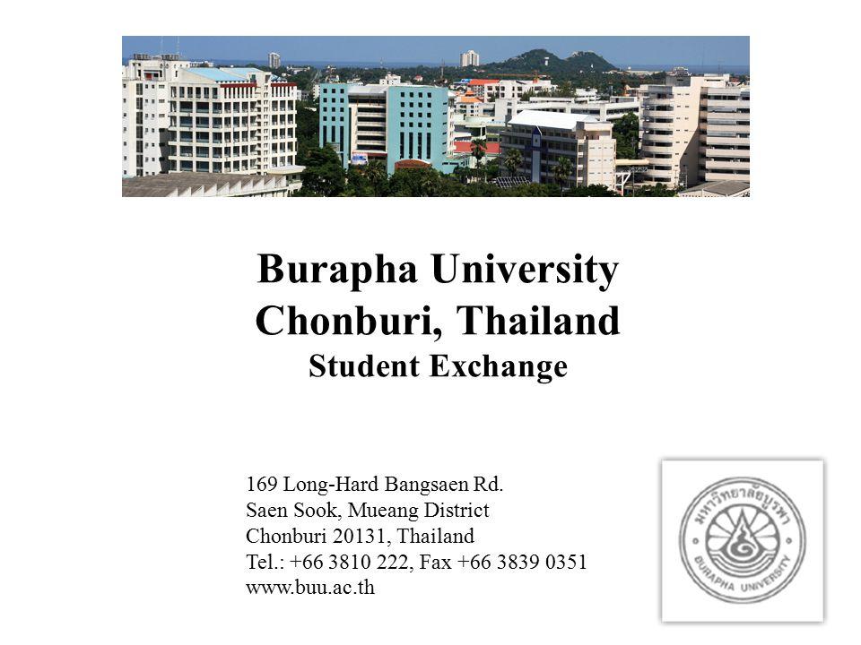 Burapha University Chonburi, Thailand Student Exchange