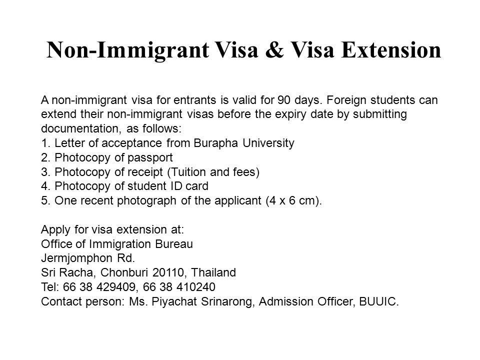 Non-Immigrant Visa & Visa Extension