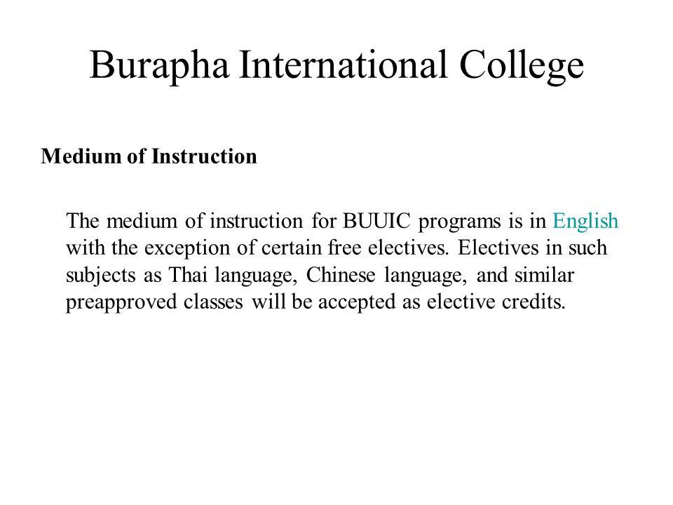 Burapha International College