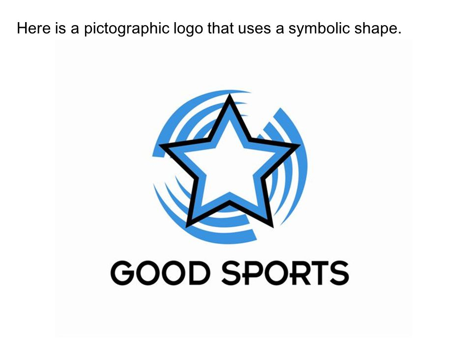 Here is a pictographic logo that uses a symbolic shape.