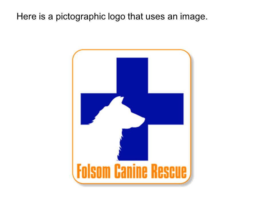 Here is a pictographic logo that uses an image.