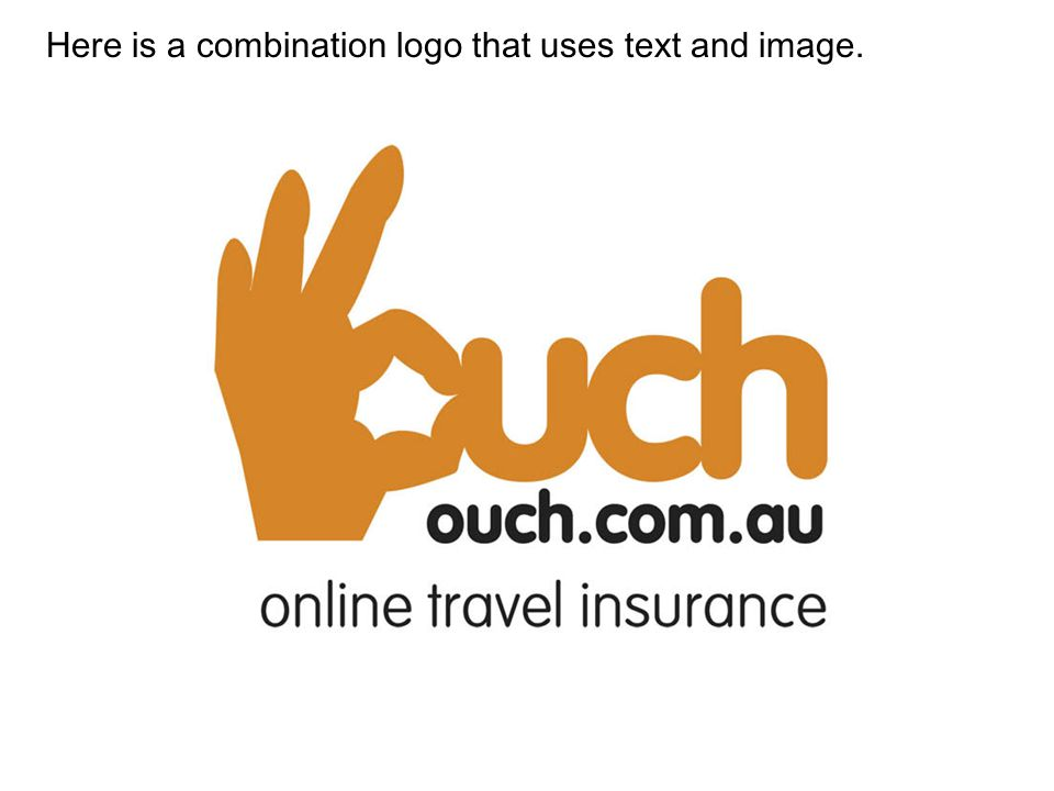 Here is a combination logo that uses text and image.