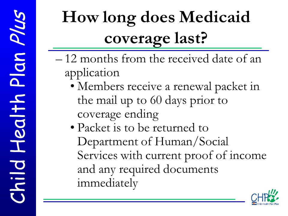 How long does Medicaid coverage last