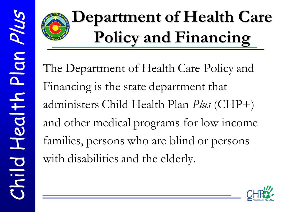 Department of Health Care Policy and Financing