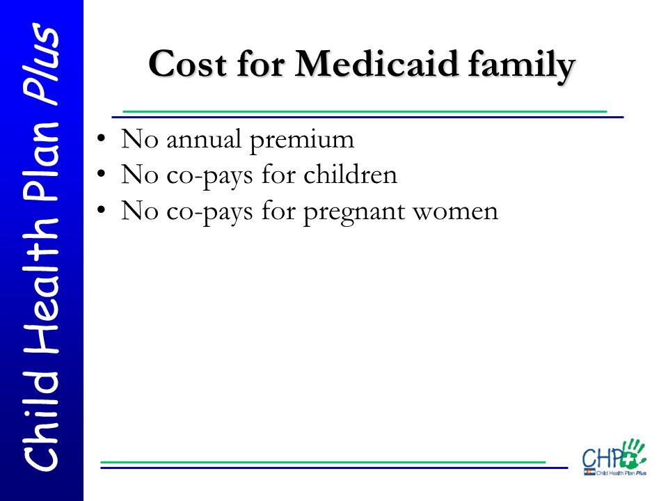 Cost for Medicaid family