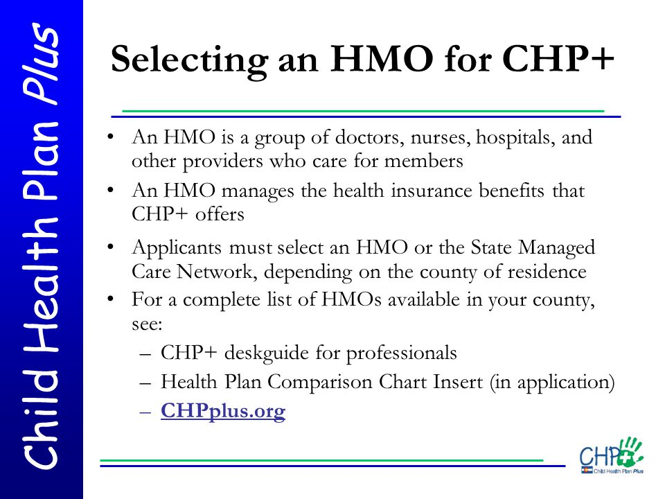 Selecting an HMO for CHP+
