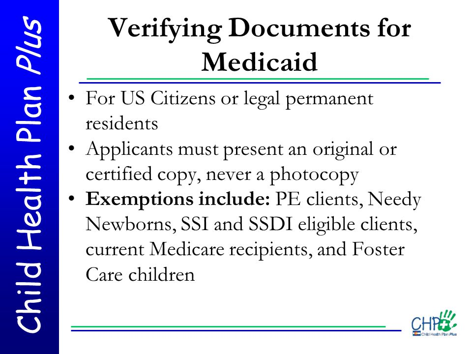 Verifying Documents for Medicaid