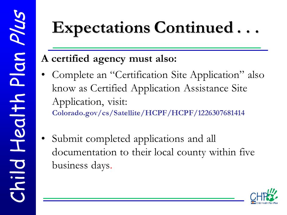 Expectations Continued . . .