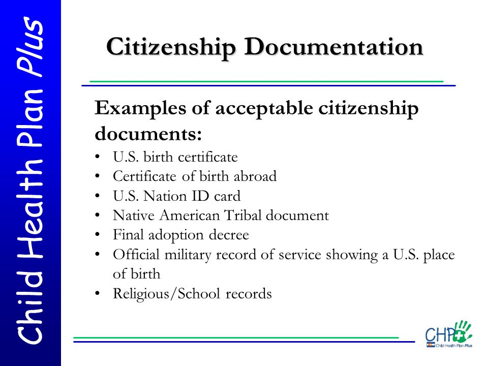 Citizenship Documentation