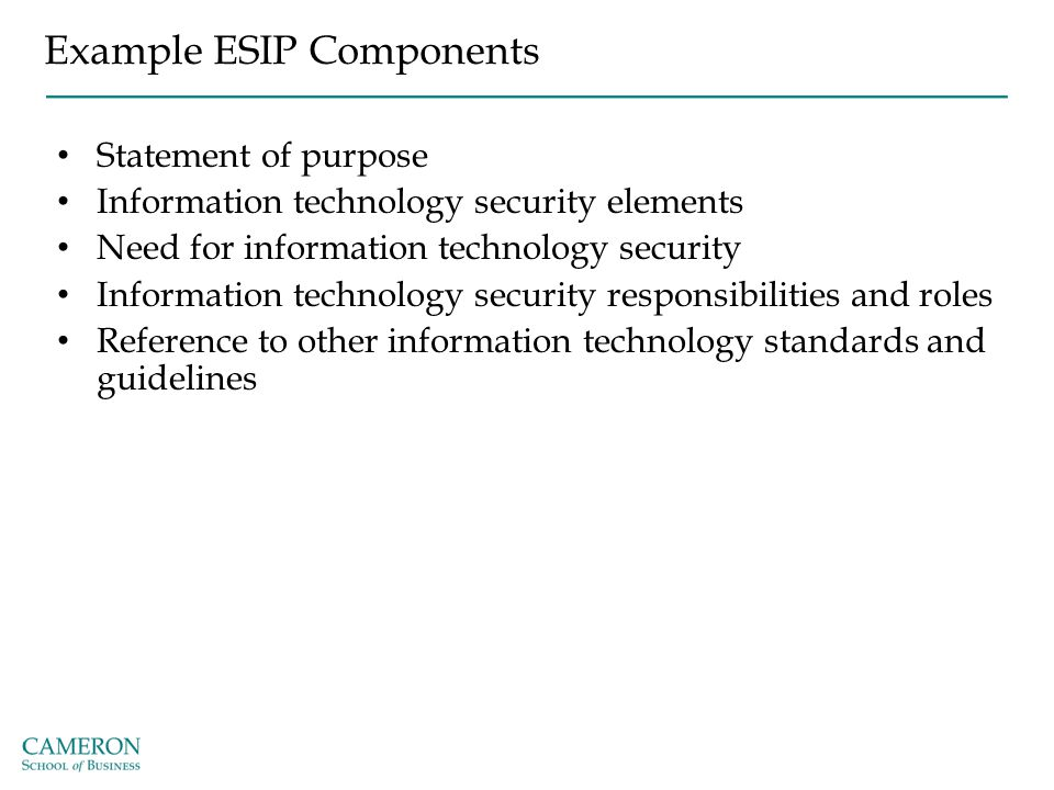 Example ESIP Components