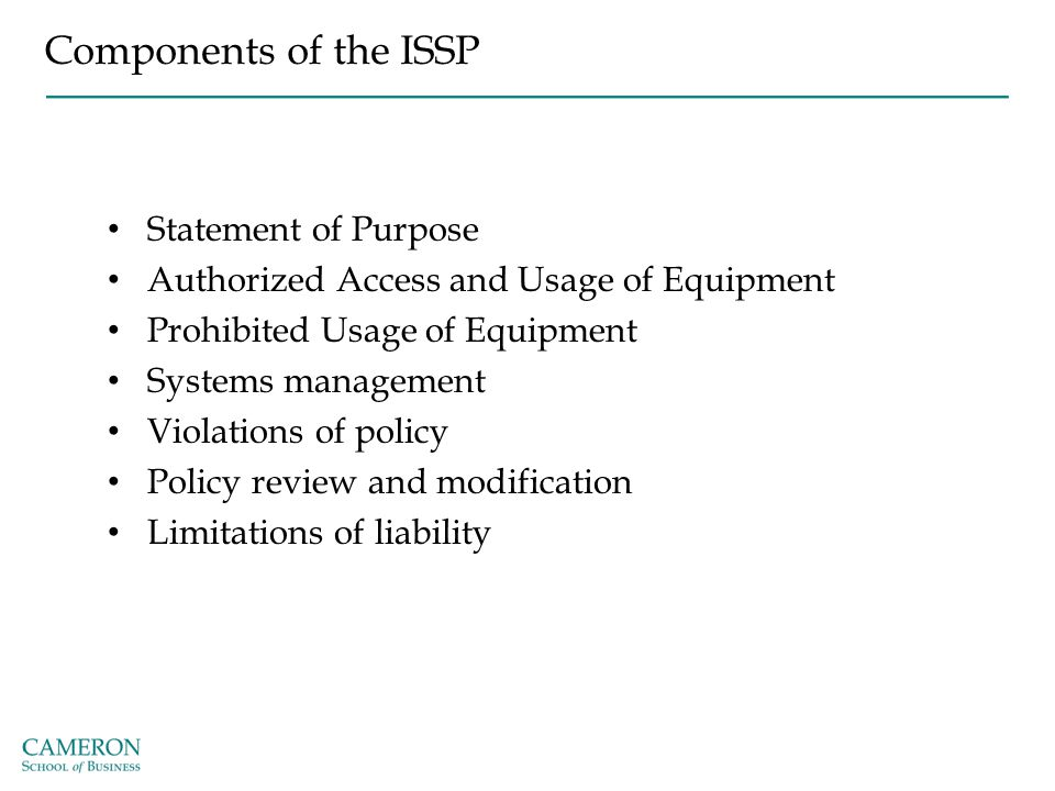 Components of the ISSP Statement of Purpose