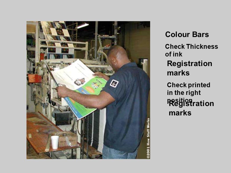 Colour Bars Registration marks Registration marks