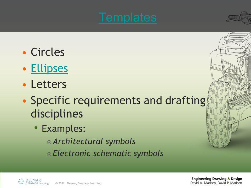 Templates Circles Ellipses Letters