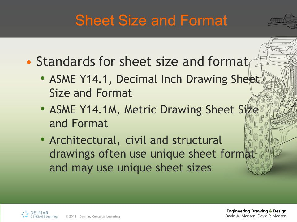 Sheet Size and Format Standards for sheet size and format