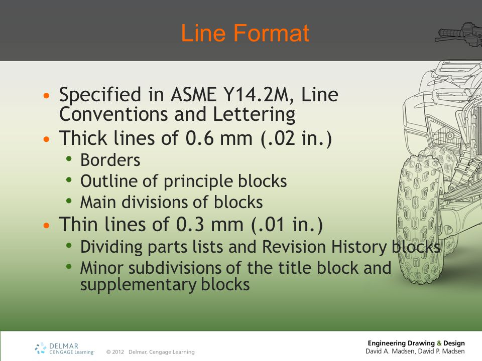 Line Format Specified in ASME Y14.2M, Line Conventions and Lettering