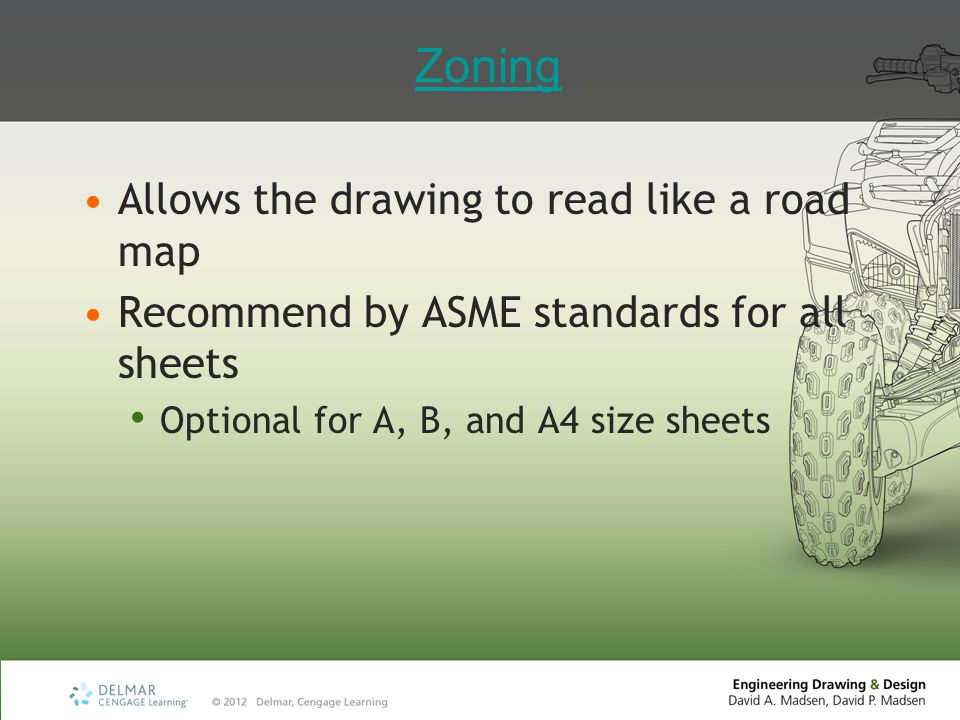 Zoning Allows the drawing to read like a road map