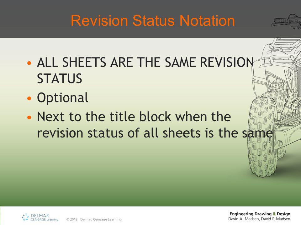Revision Status Notation