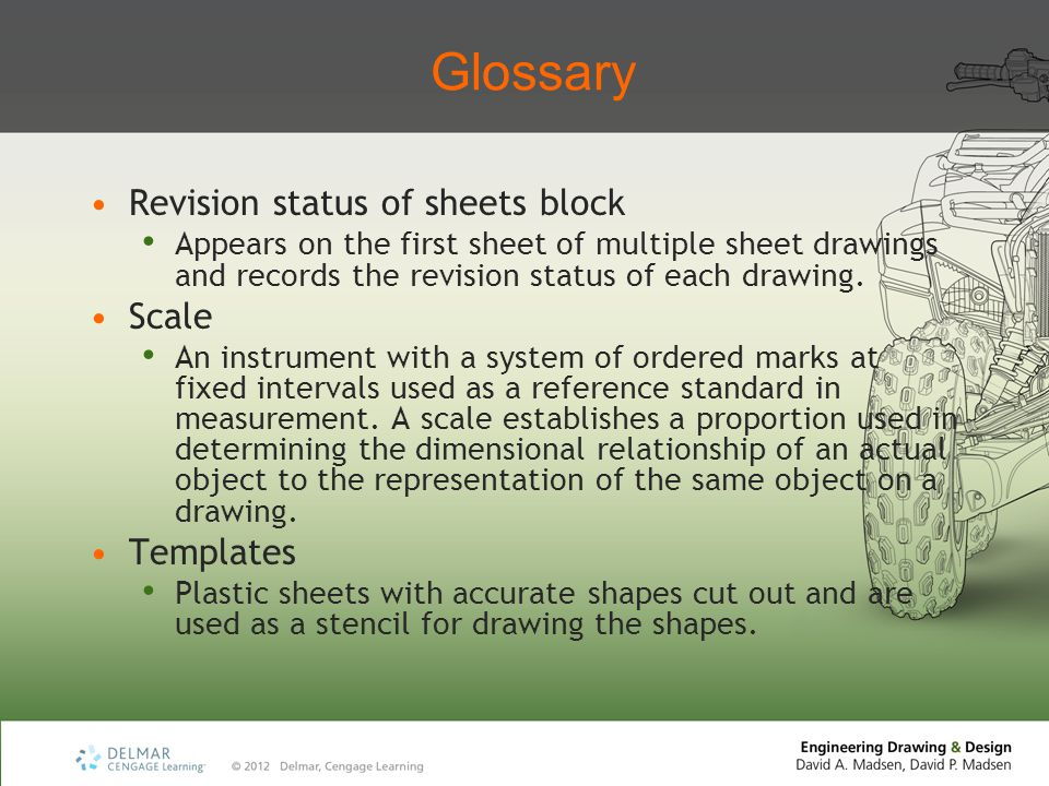 Glossary Revision status of sheets block Scale Templates