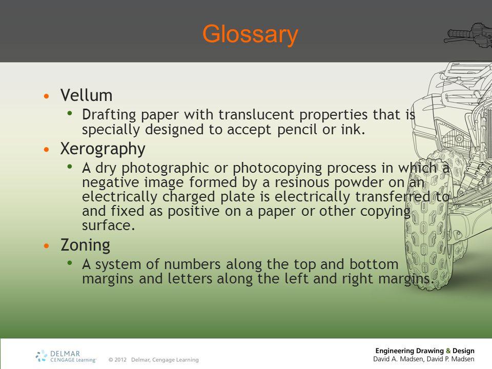 Glossary Vellum Xerography Zoning