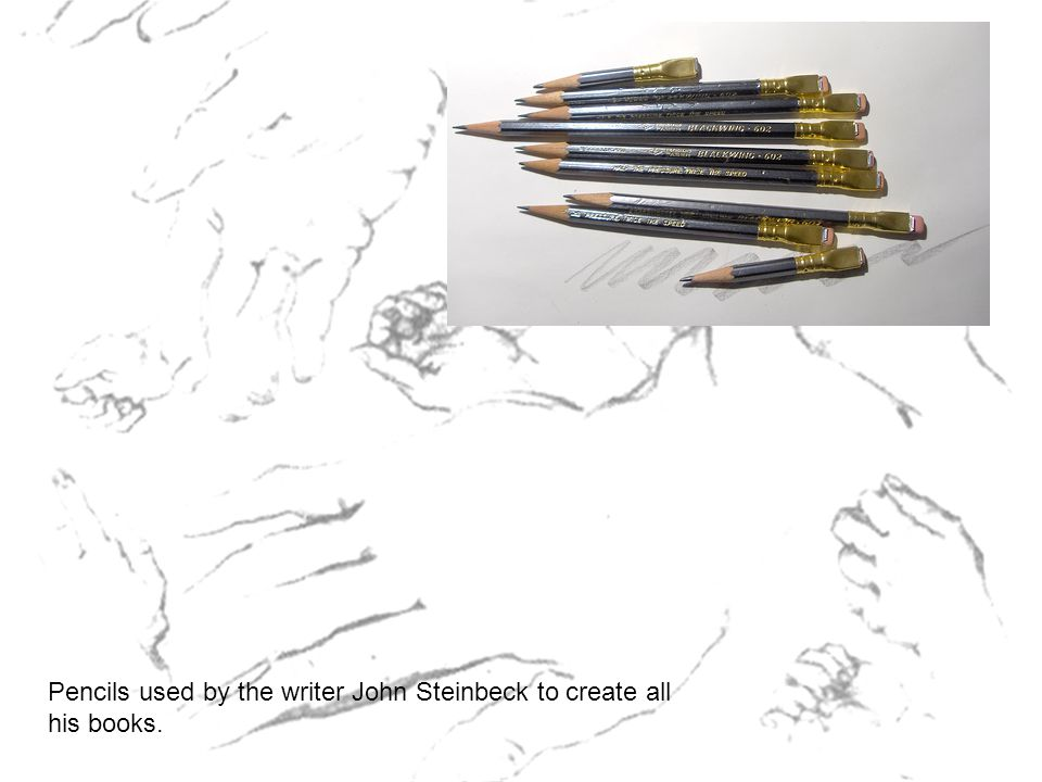 Pencils used by the writer John Steinbeck to create all his books.