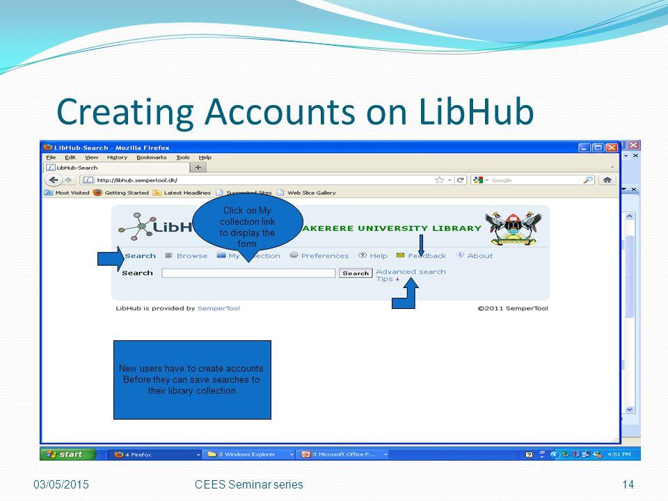 Creating Accounts on LibHub