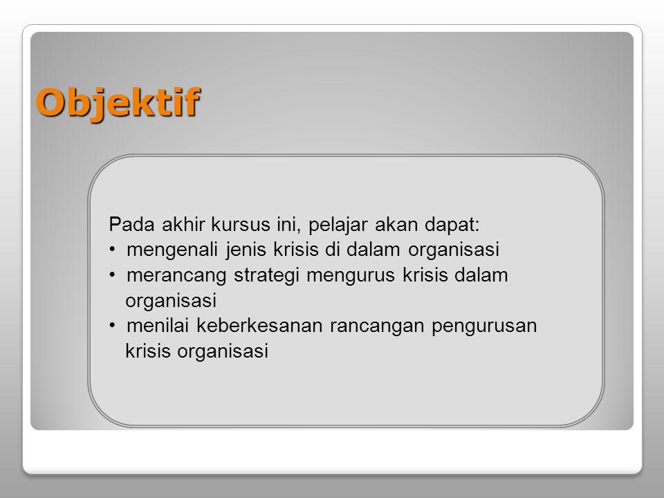 Objektif Pada akhir kursus ini, pelajar akan dapat: