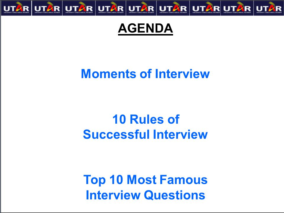 10 Rules of Successful Interview