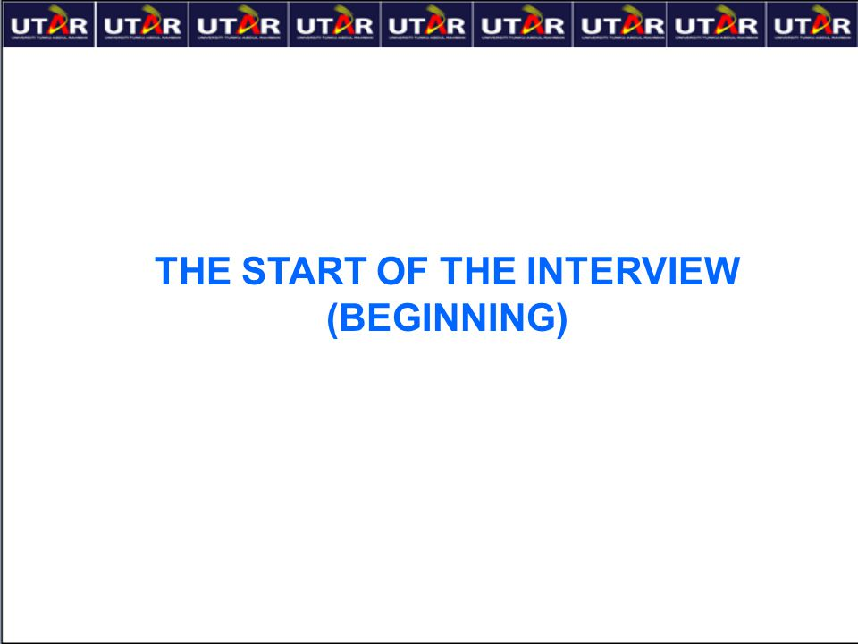 THE START OF THE INTERVIEW (BEGINNING)