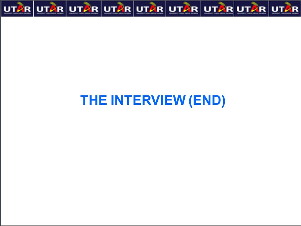 THE INTERVIEW (END)