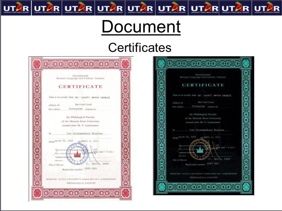 Document Certificates