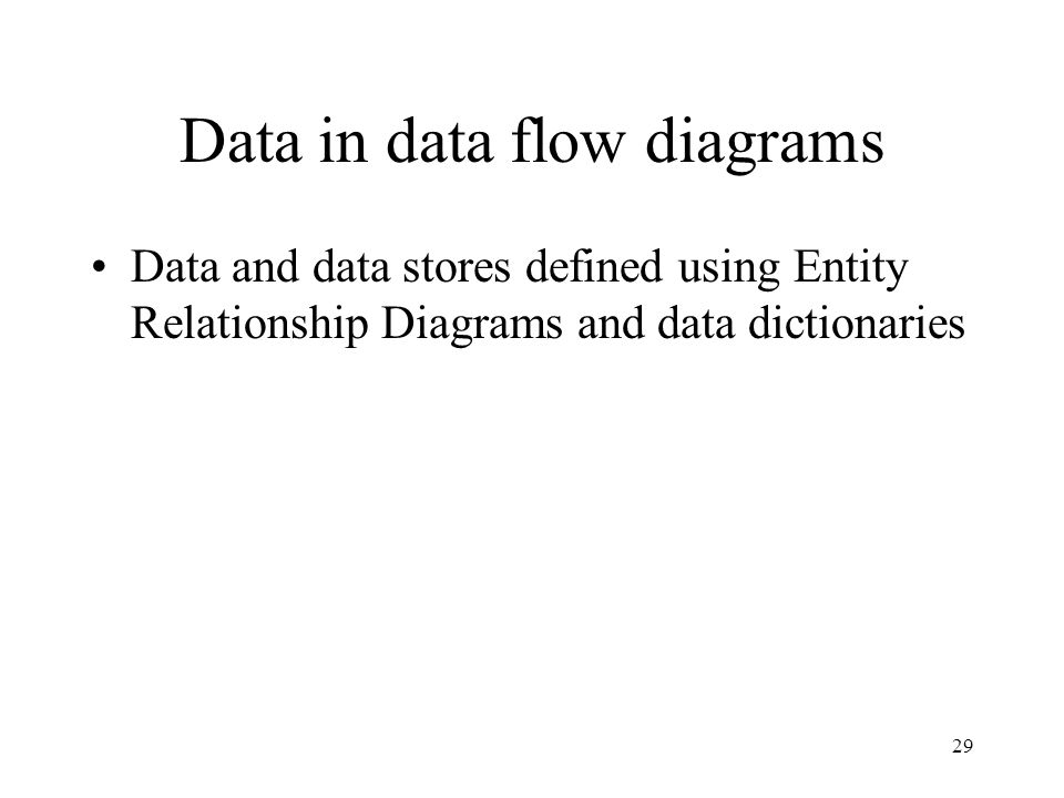 Data in data flow diagrams