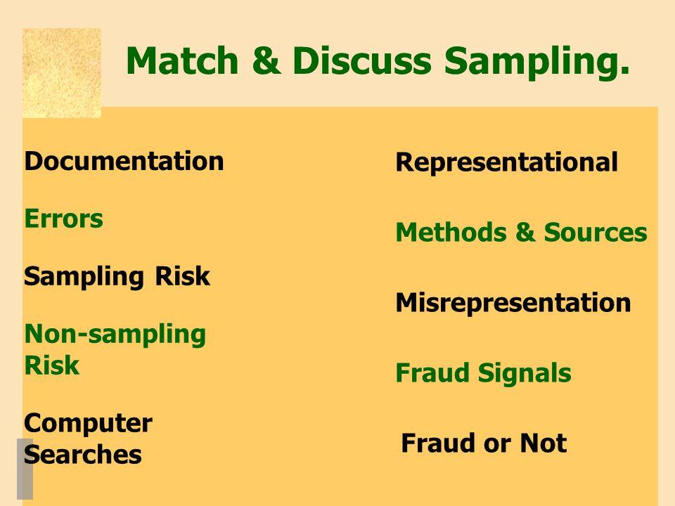 Match & Discuss Sampling.