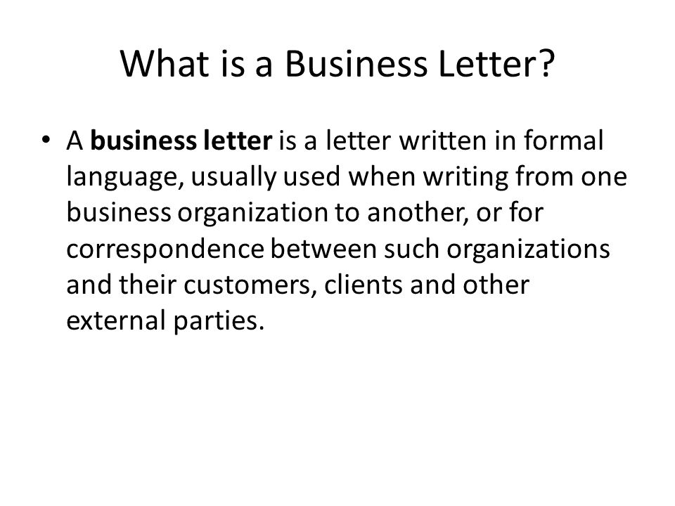 What is a Business Letter