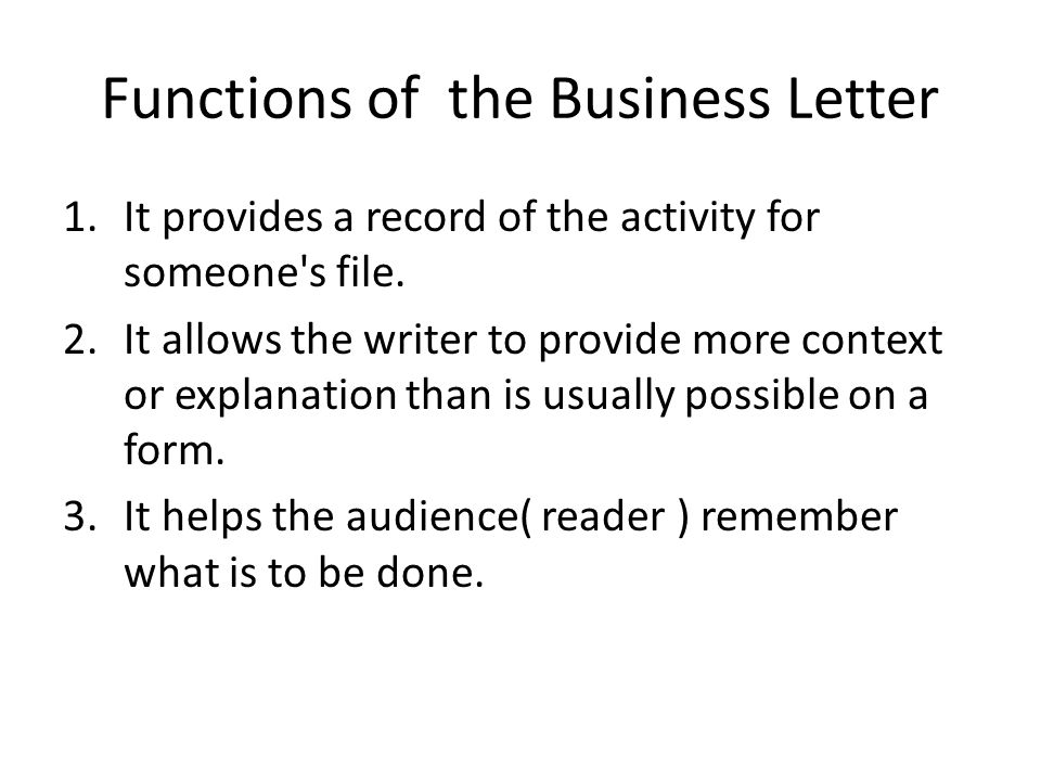 form of business letters