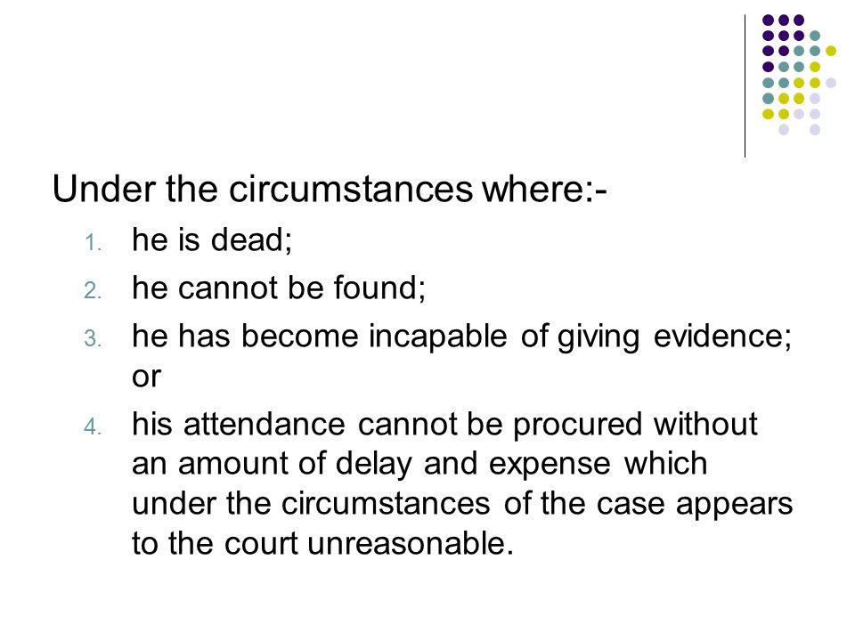 Under the circumstances where:-