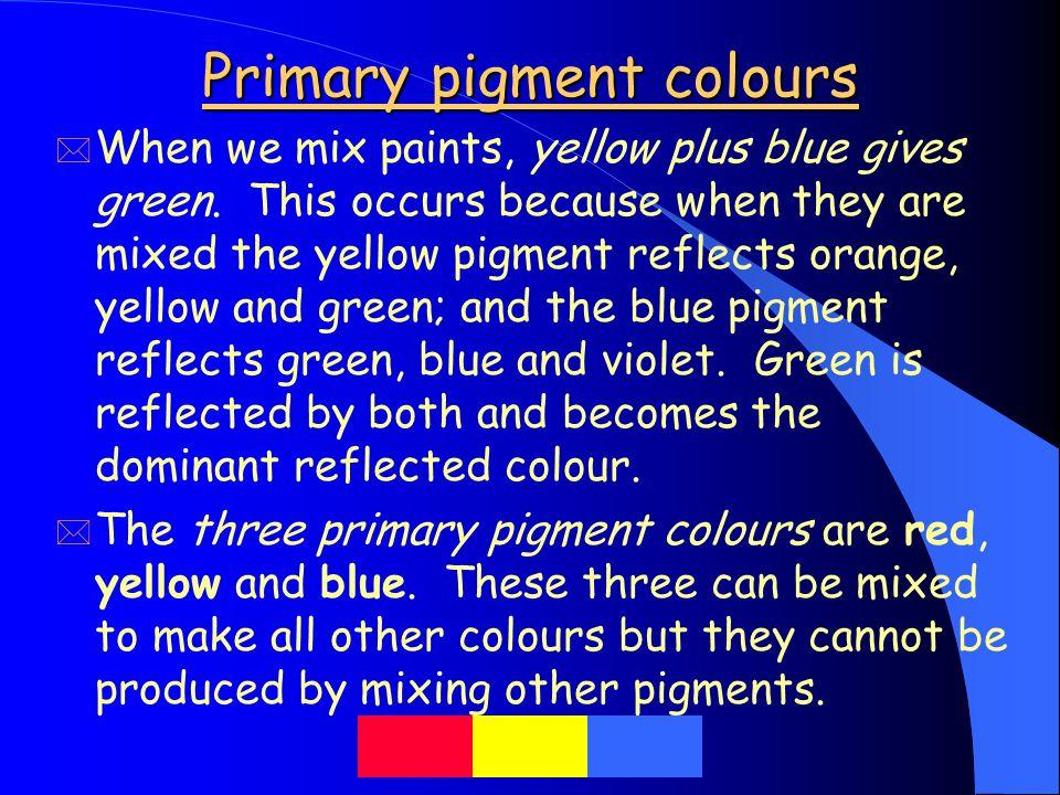 Primary pigment colours