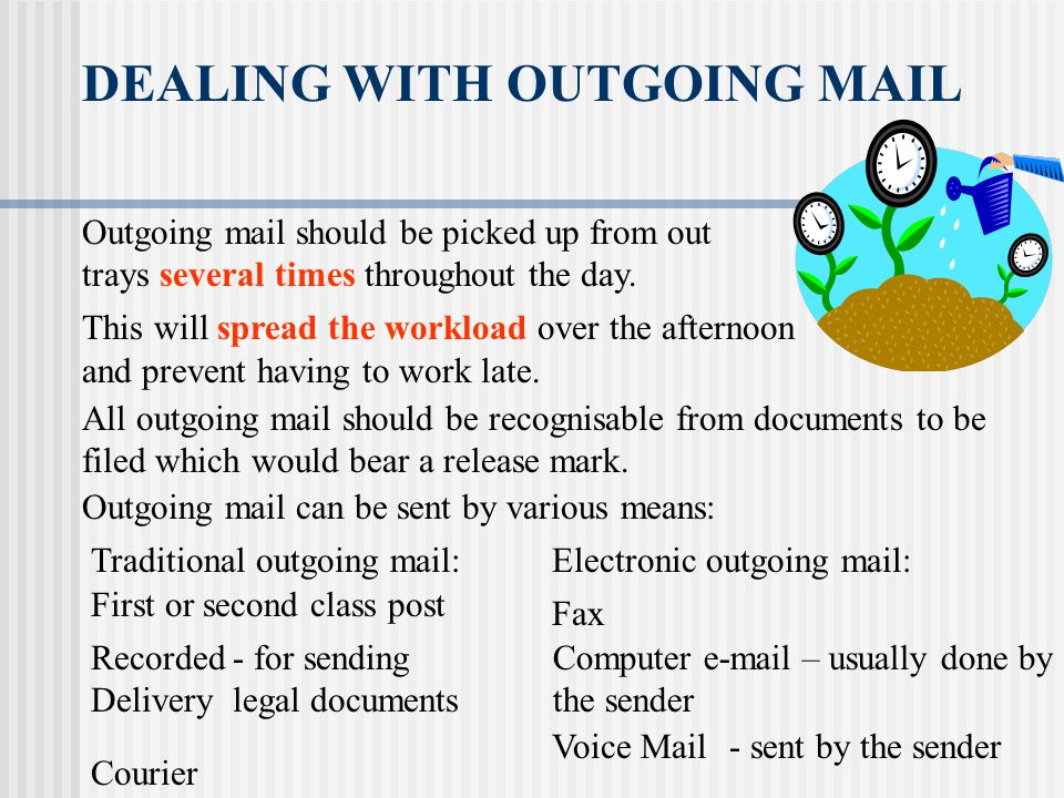DEALING WITH OUTGOING MAIL