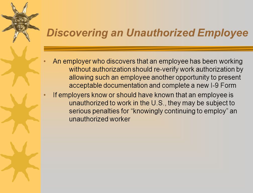 Discovering an Unauthorized Employee