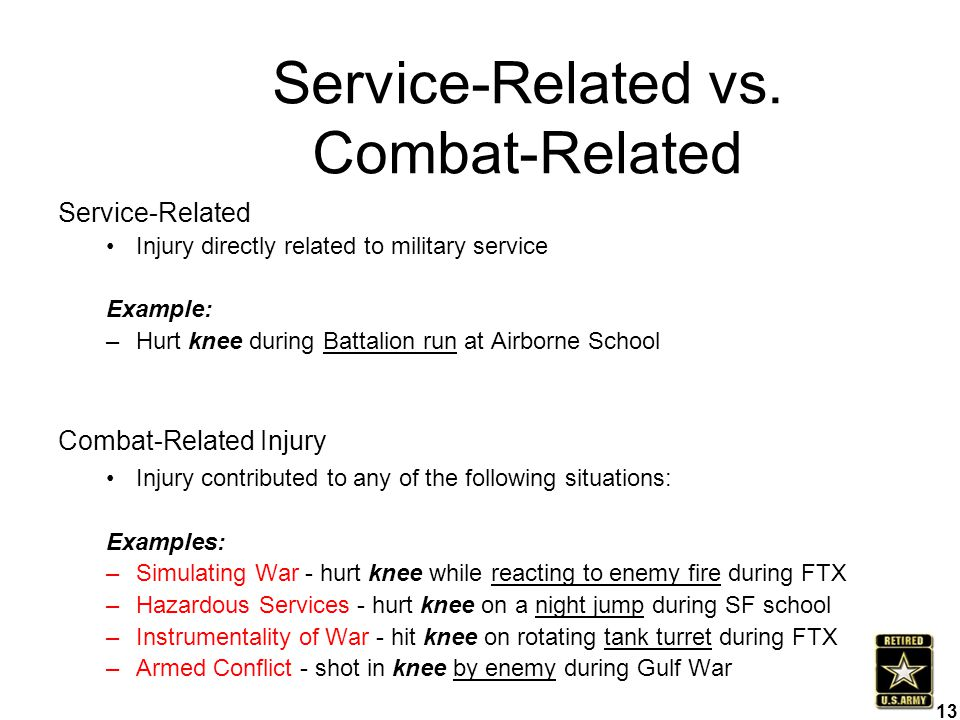 Service-Related vs. Combat-Related