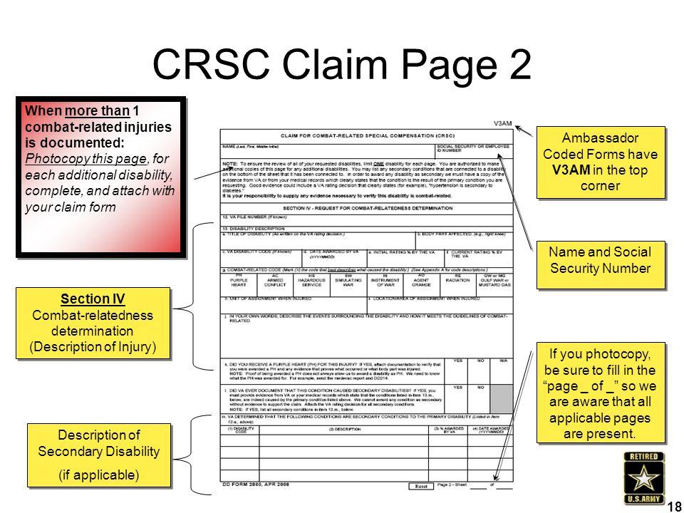 CRSC Claim Page 2