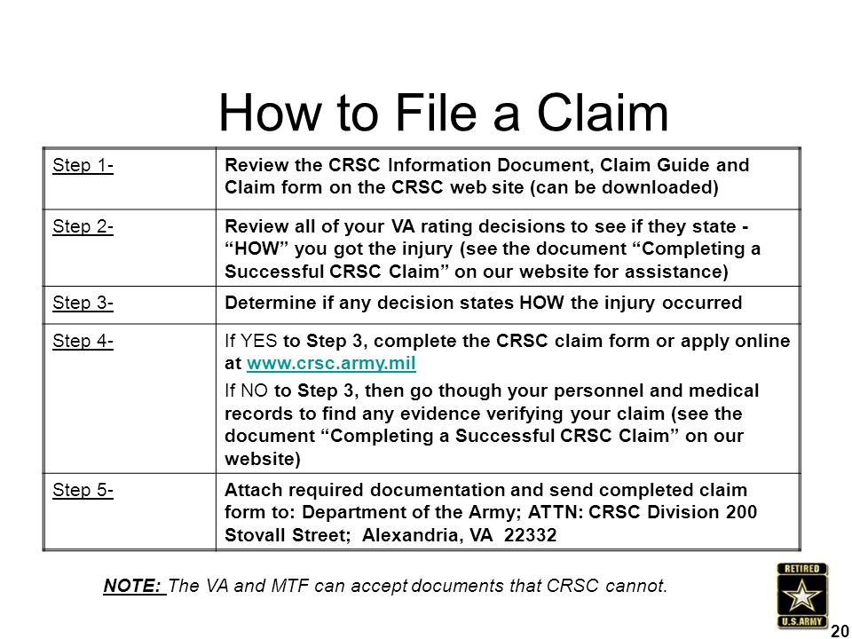 How to File a Claim Step 1-