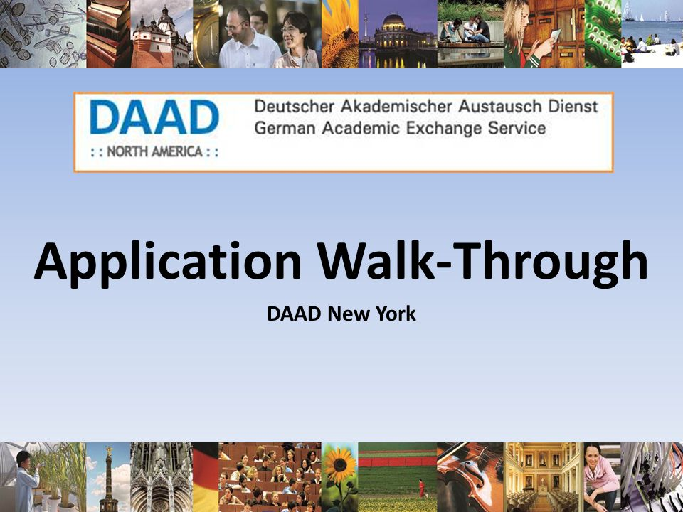 Application Walk-Through