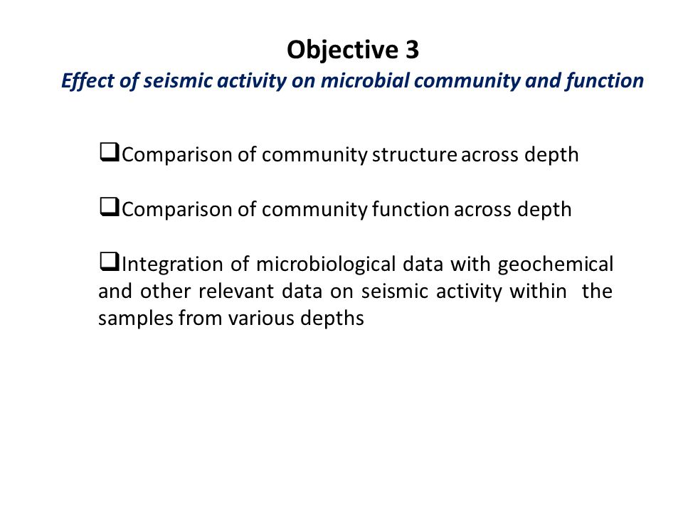 Effect of seismic activity on microbial community and function