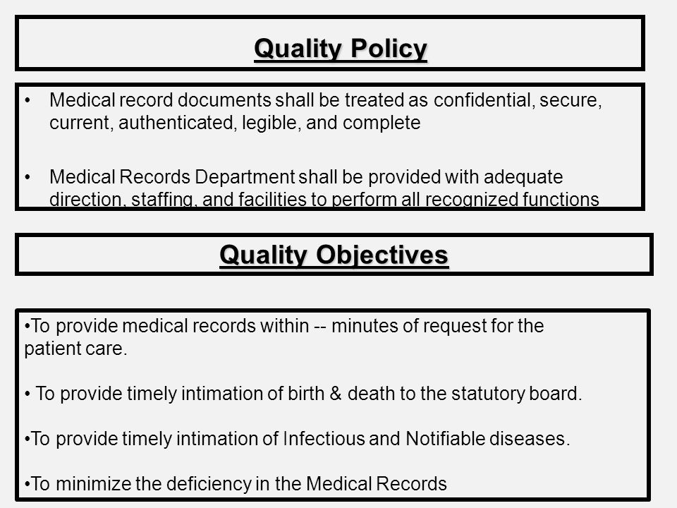 Quality Policy Quality Objectives